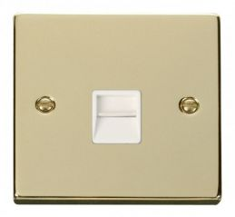 Scolmore Click Deco VPBR125WH Single Telephone Socket Outlet Secondary - White