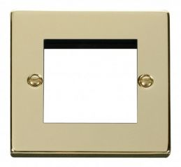 Scolmore Click Deco VPBR311 Single Plate - Twin Media Module Aperture