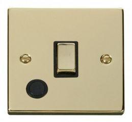 Scolmore Click Deco VPBR522BK 20A 1 Gang DP Ingot Switch With Flex Outlet - Black