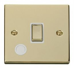 Scolmore Click Deco VPBR522WH 20A 1 Gang DP Ingot Switch With Flex Outlet - White