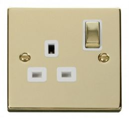 Scolmore Click Deco VPBR535WH 1 Gang 13A DP Ingot Switched Socket Outlet - White