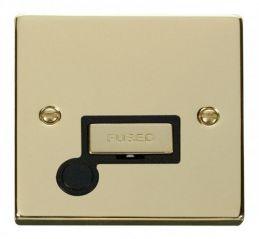 Scolmore Click Deco VPBR550BK 13A Fused Ingot Connection Unit With Flex Outlet - Black