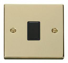 Scolmore Click Deco VPBR622BK 20A 1 Gang DP Switch - Black