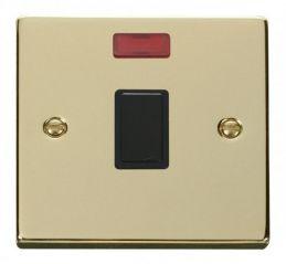 Scolmore Click Deco VPBR623BK 20A 1 Gang DP Switch + Neon - Black