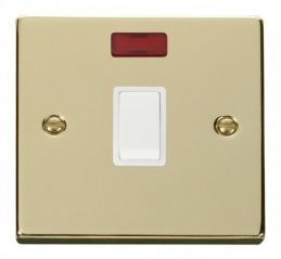 Scolmore Click Deco VPBR623WH 20A 1 Gang DP Switch + Neon - White