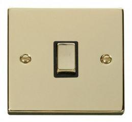 Scolmore Click Deco VPBR722BK 20A 1 Gang DP Ingot Switch - Black