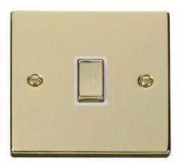 Scolmore Click Deco VPBR722WH 20A 1 Gang DP Ingot Switch - White