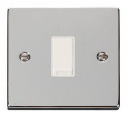 Scolmore Click Deco VPCH011WH 1 Gang 2 Way 10AX Switch - White