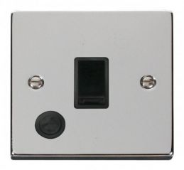 Scolmore Click Deco VPCH022BK 20A 1 Gang DP Switch With Flex Outlet - Black
