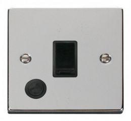 Scolmore Click Deco VPCH022BK 20A 1 Gang DP Switch With Flex Outlet - Black