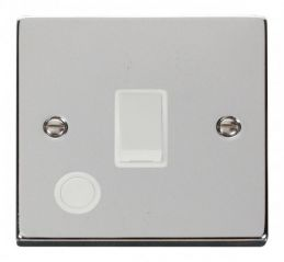 Scolmore Click Deco VPCH022WH 20A 1 Gang DP Switch With Flex Outlet - White