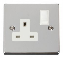 Scolmore Click Deco VPCH035WH 1 Gang 13A DP Switched Socket Outlet - White