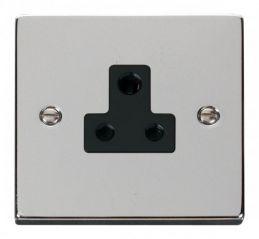 Scolmore Click Deco VPCH038BK 5A Round Pin Socket Outlet - Black