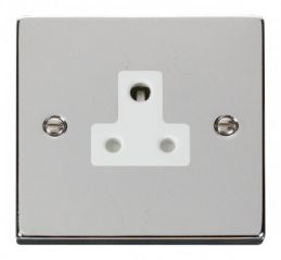 Scolmore Click Deco VPCH038WH 5A Round Pin Socket Outlet - White