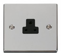 Scolmore Click Deco VPCH039BK 2A Round Pin Socket Outlet - Black