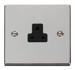 Scolmore Click Deco VPCH039BK 2A Round Pin Socket Outlet - Black