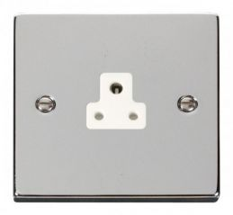 Scolmore Click Deco VPCH039WH 2A Round Pin Socket Outlet - White