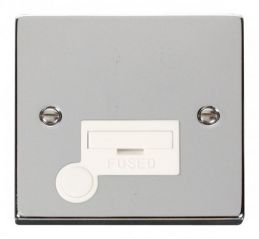 Scolmore Click Deco VPCH050WH 13A Fused Connection Unit With Flex Outlet - White