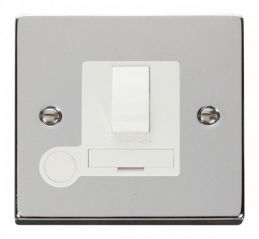 Scolmore Click Deco VPCH051WH 13A Fused Switched Connection Unit With Flex Outlet - White