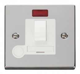 Scolmore Click Deco VPCH052WH 13A Fused Switched Connection Unit With Flex Outlet & Neon - White