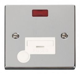 Scolmore Click Deco VPCH053WH 13A Fused Connection Unit With Flex Outlet & Neon - White