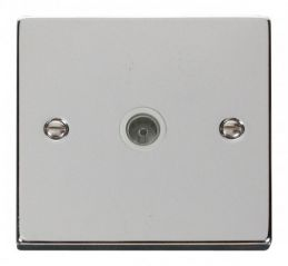 Scolmore Click Deco VPCH065WH Single Coaxial Socket Outlet - White