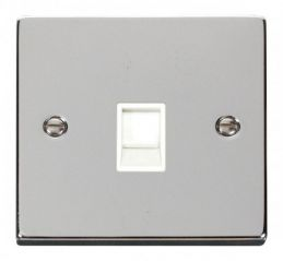 Scolmore Click Deco VPCH115WH Single RJ11 Socket (Ireland/USA) - White