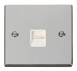 Scolmore Click Deco VPCH125WH Single Telephone Socket Outlet Secondary - White