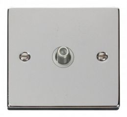 Scolmore Click Deco VPCH156WH 1 Gang Satellite Socket Outlet - White