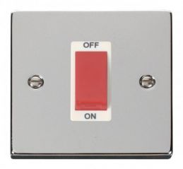 Scolmore Click Deco VPCH200WH 1 Gang 45A DP Switch - White
