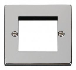 Scolmore Click Deco VPCH311 Single Plate (Twin Media Module Aperture)