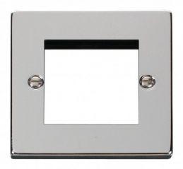 Scolmore Click Deco VPCH311 Single Plate (Twin Media Module Aperture)