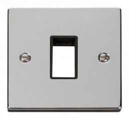 Scolmore Click Deco VPCH401BK 1 Gang Plate Single Aperture - Black