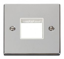 Scolmore Click Deco VPCH402WH 1 Gang Plate Twin Aperture - White