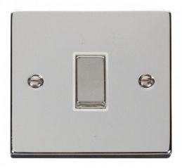 Scolmore Click Deco VPCH411WH 1 Gang 2 Way Ingot 10AX Switch - White