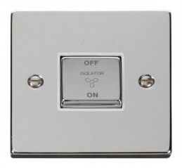 Scolmore Click Deco VPCH520WH 10A 1 Gang Ingot 3 Pole Fan Isolation Switch - White
