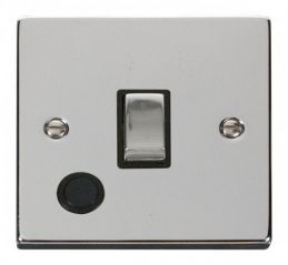 Scolmore Click Deco VPCH522BK 20A 1 Gang DP Ingot Switch With Flex Outlet - Black