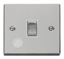Scolmore Click Deco VPCH522WH 20A 1 Gang DP Ingot Switch With Flex Outlet - White