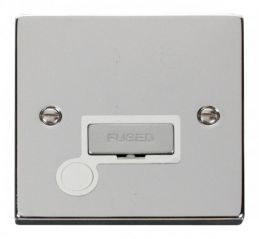 Scolmore Click Deco VPCH550WH 13A Fused Ingot Connection Unit With Flex Outlet - White