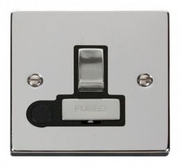 Scolmore Click Deco VPCH551BK 13A Fused Ingot Switched Connection Unit With Flex Outlet - Black