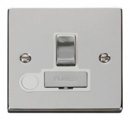 Scolmore Click Deco VPCH551WH 13A Fused Ingot Switched Connection Unit With Flex Outlet - White