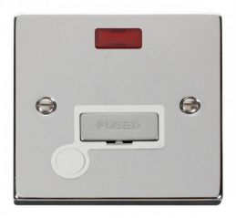 Scolmore Click Deco VPCH553WH 13A Fused Ingot Connection Unit With Flex Outlet & Neon - White