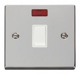 Scolmore Click Deco VPCH623WH 20A 1 Gang DP Switch + Neon - White