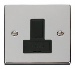Scolmore Click Deco VPCH651BK 13A Fused Switched Connection Unit - Black
