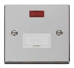 Scolmore Click Deco VPCH653WH 13A Fused Connection Unit With Neon - White