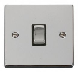 Scolmore Click Deco VPCH722BK 20A 1 Gang DP Ingot Switch - Black