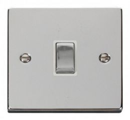 Scolmore Click Deco VPCH722WH 20A 1 Gang DP Ingot Switch - White