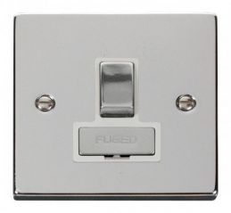 Scolmore Click Deco VPCH751WH 13A Fused Ingot Switched Connection Unit - White