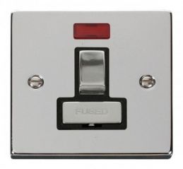 Scolmore Click Deco VPCH752BK 13A Fused Ingot Switched Connection Unit With Neon - Black