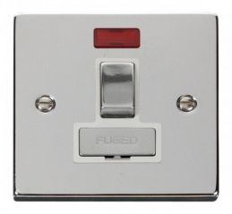 Scolmore Click Deco VPCH752WH 13A Fused Ingot Switched Connection Unit With Neon - White